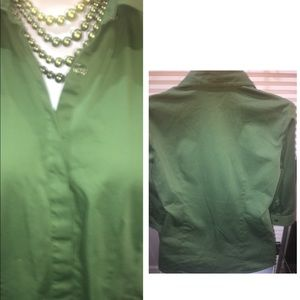 Van-Heusen stretch green top sz L
